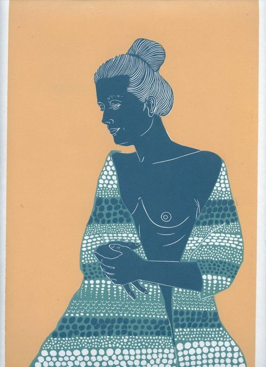 Woman with Pashmina II - Image 0