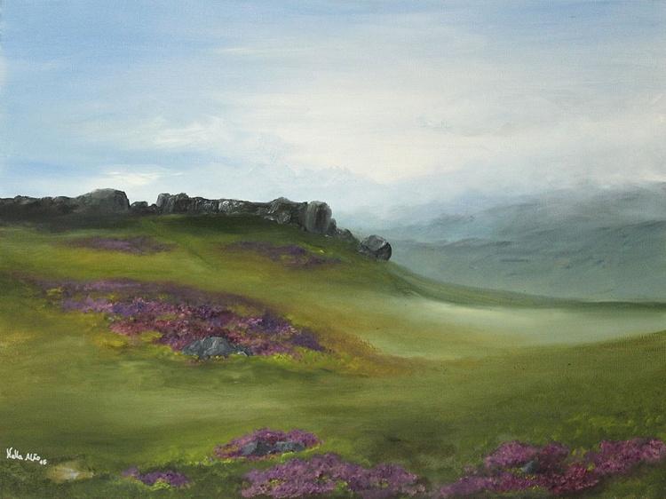 Caw & Calf Rocks, Ilkley moors. - Image 0