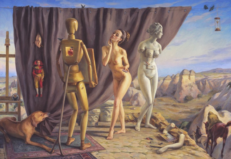 Tribut to Dali. Three Graces, 110x150cm, 2013 - Image 0