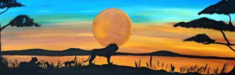 "Lion Silhouette ""Pride"" - Image 0"