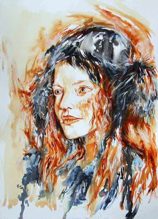 Redhair  / Watercolour -