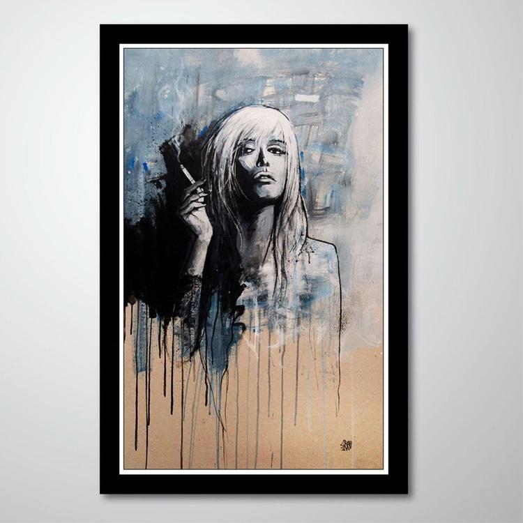 FEMME A LA CIGARETTE - Woman portrait by GRAFFMATT - Image 0