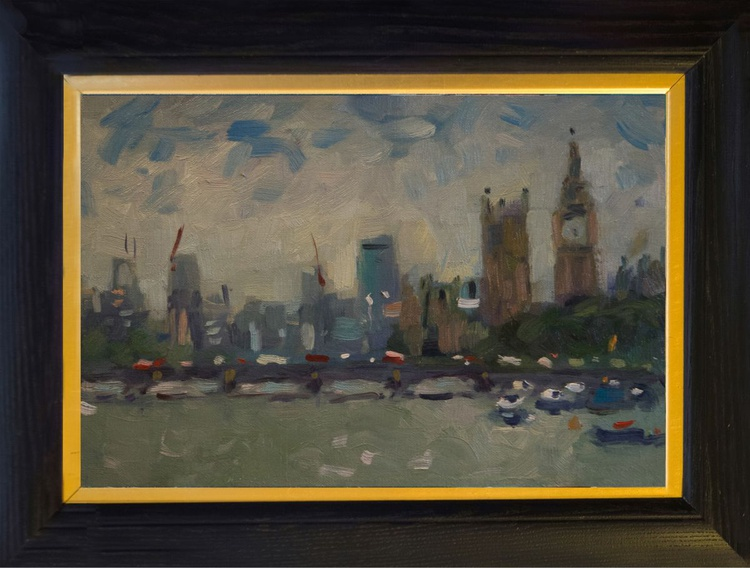 The Thames with the Houses of Parlaiment - Image 0