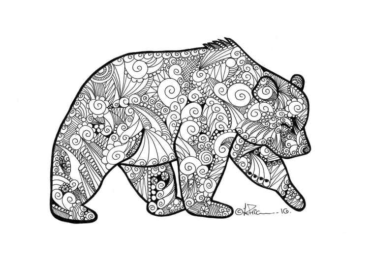 'Doodle Therapy Bear' -