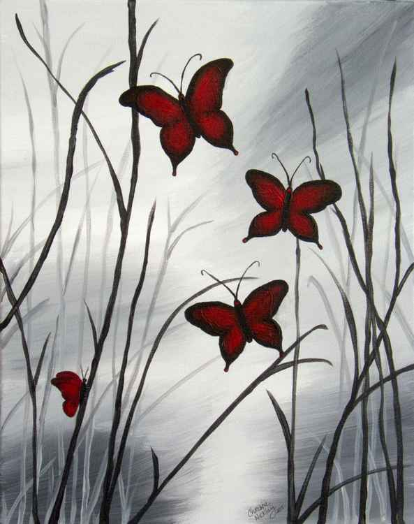 Red Butterflies -