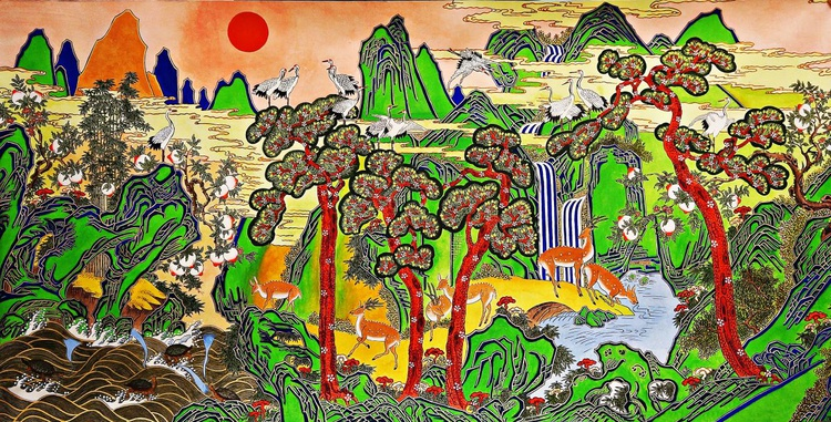 "Ship-jangsaeng the Twelve ""Ten Symbols of Longevity"" - Image 0"