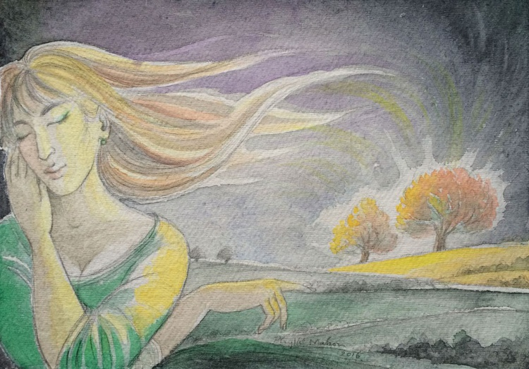 Young woman dreaming of a brighter land - Image 0