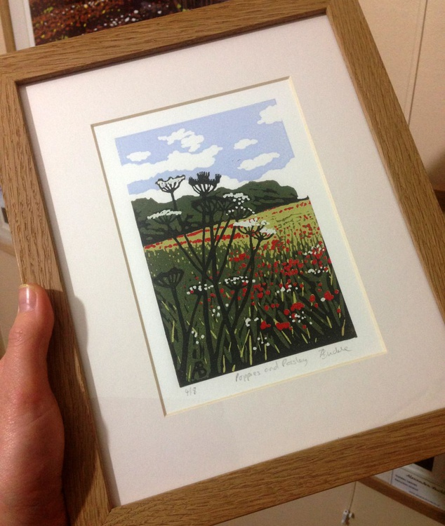 Poppies and Parsley, framed - Image 0