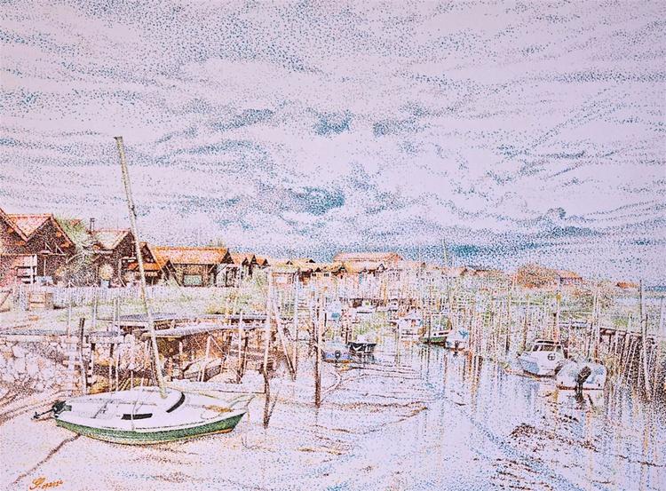 """Le Port de Gujan-Mestras (Gujan-Mestras Harbour) - """"TECHNICOLOR"""" - Image 0"""