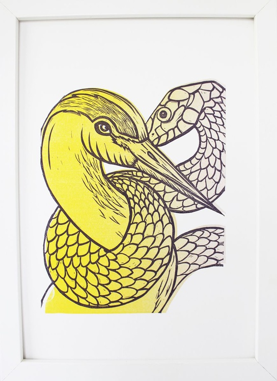 The Crane and Snake - Image 0