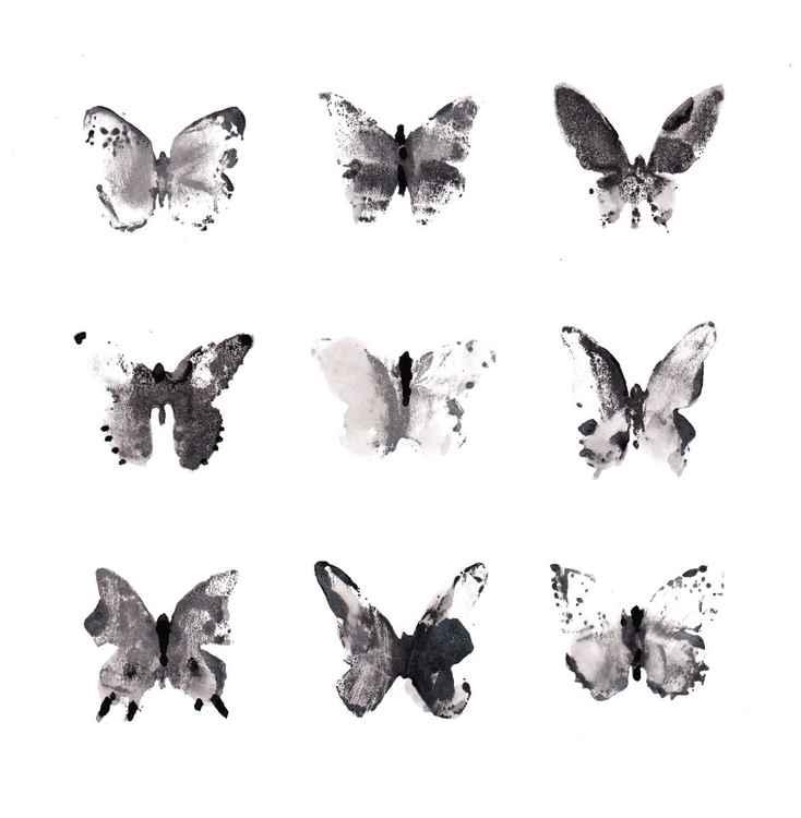 Nine Butterflies 2121BW2