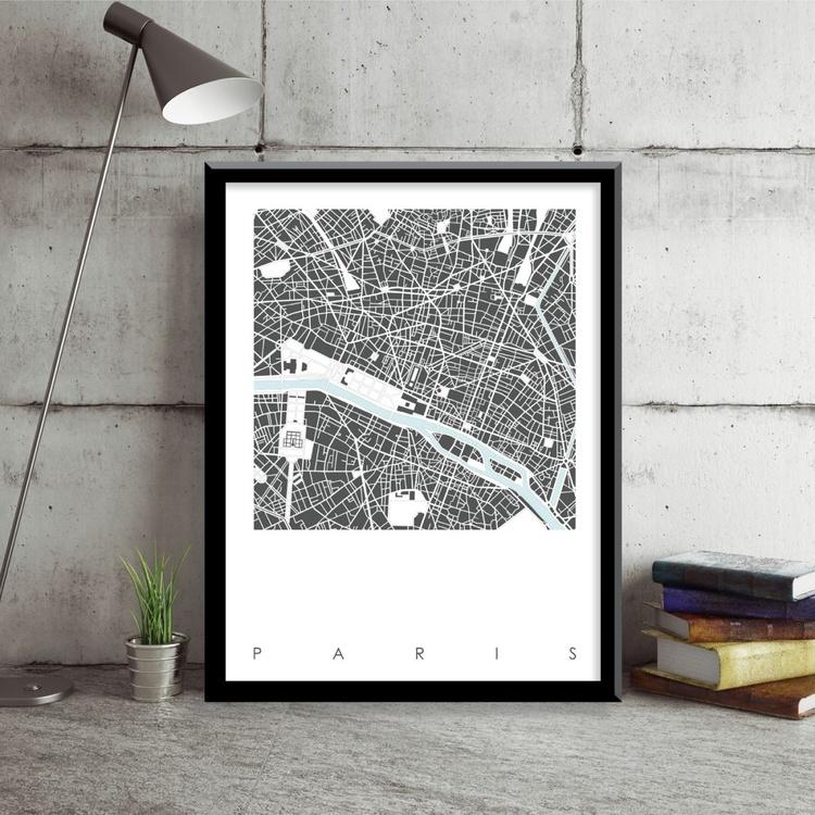 Paris Map Art Limited Edition Print - Image 0