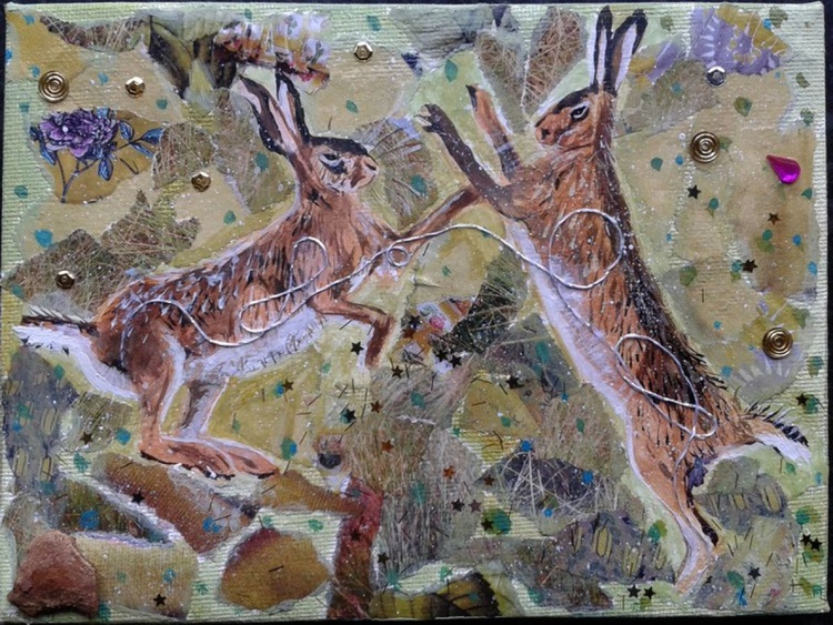 Hares in the meadow - Image 0