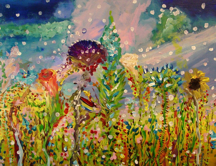 Surreal Field of Flowers - Image 0