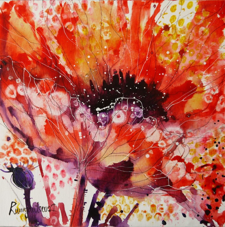 Flourishing Red Poppy - Image 0