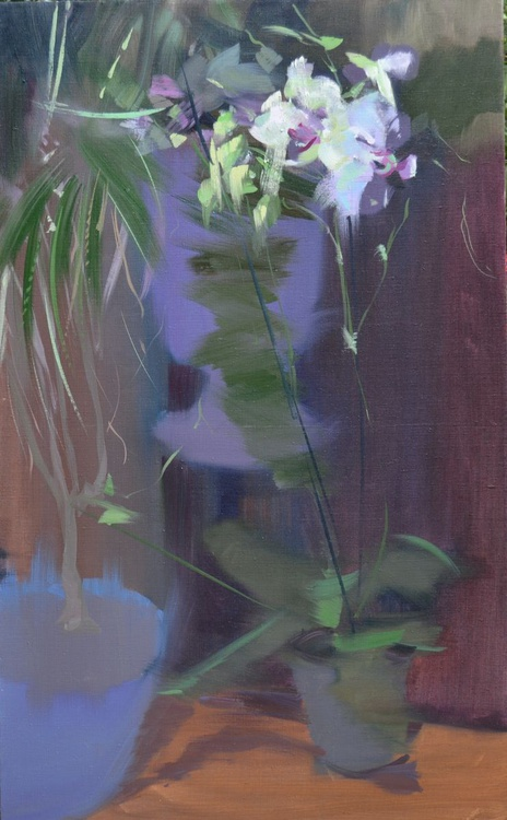 """Floral painting """" Orchids """" (86sl14) - Image 0"""