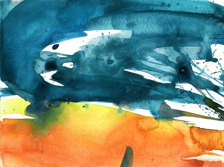 Serenity 15 - Abstract Watercolor Painting by Kathy Morton Stanion - Image 0