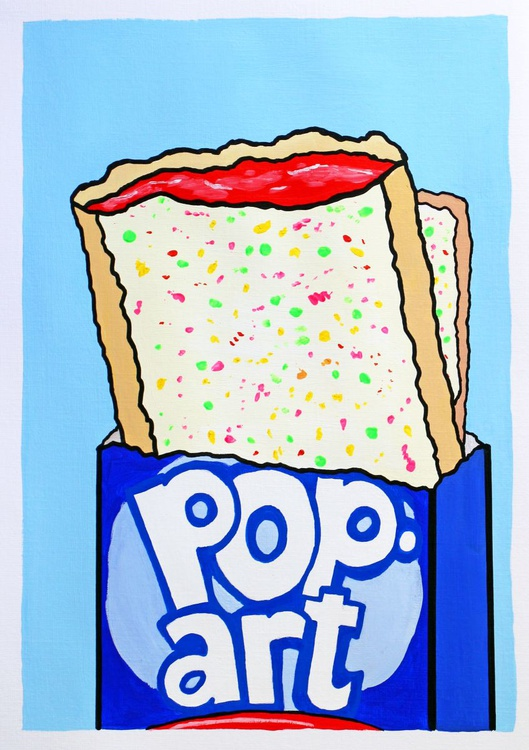 Pop (T)Art Painting On A4 Paper - Image 0