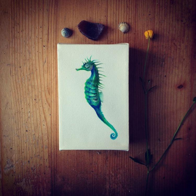 Green Seahorse - Image 0
