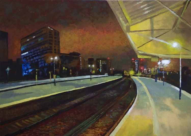 Transit - Vauxhall station, London  70cm x 50cm -