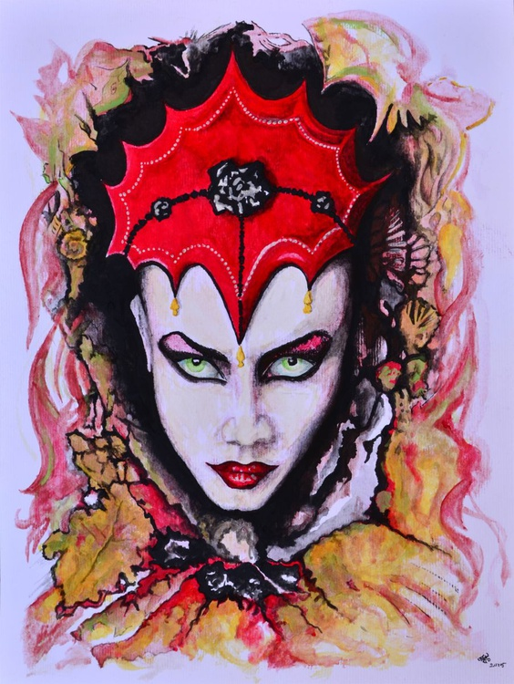Queen Autumn - Watercolour Painting - Image 0