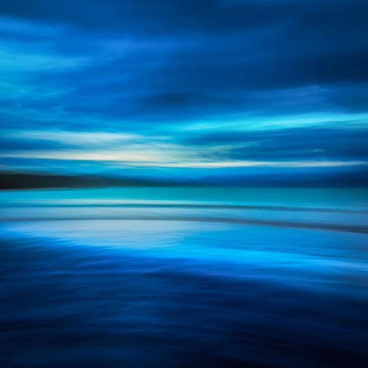 Infinitely Blue, Isle of Harris - Extra large beach abstract - Image 0
