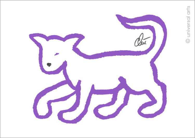 Lavender Cat (Lavendelfarbene Katze)
