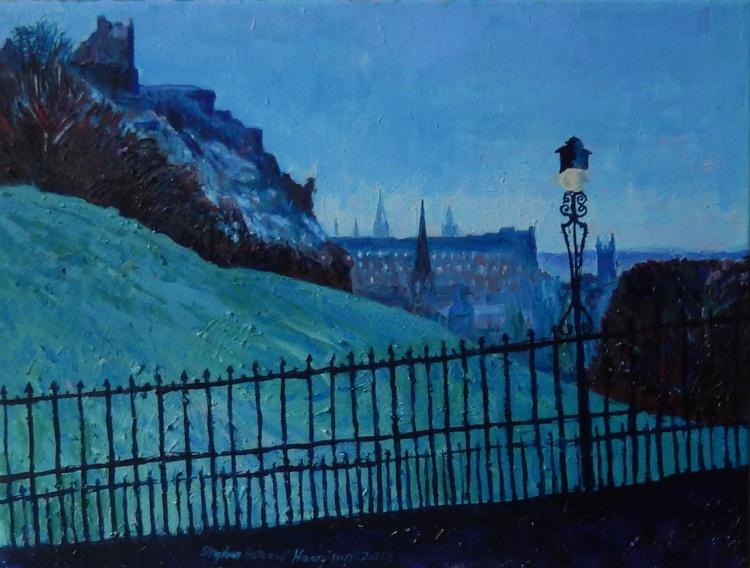 Edinburgh Castle From The Mound, Winter - Image 0