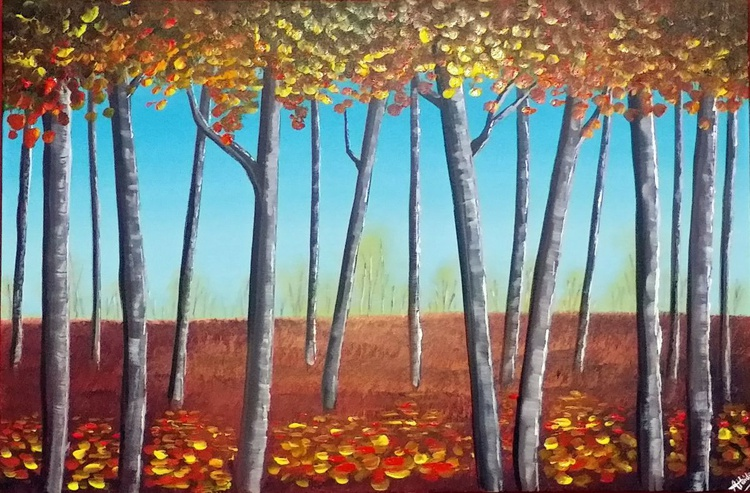 Forest Of Birch Trees - Image 0