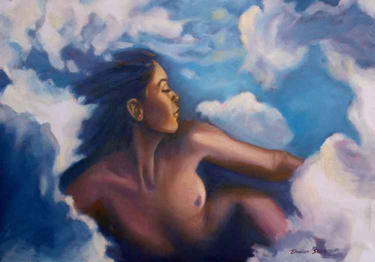 Girl in the clouds