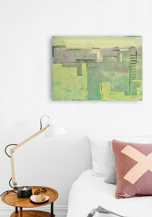 """Abstract painting """"City 09"""". Oil painting on cotton canvas. (2016) - Image 0"""