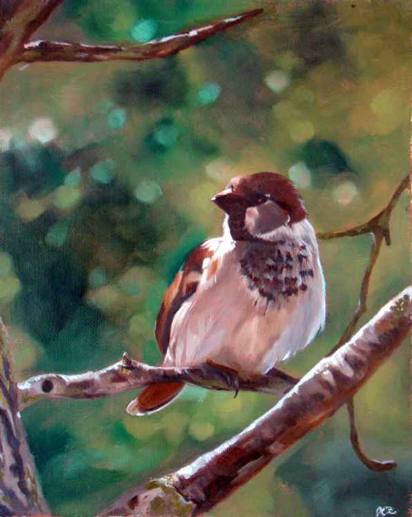 Sparrow in a Tree, Artist of the Year DSWF 2014 Finalist -