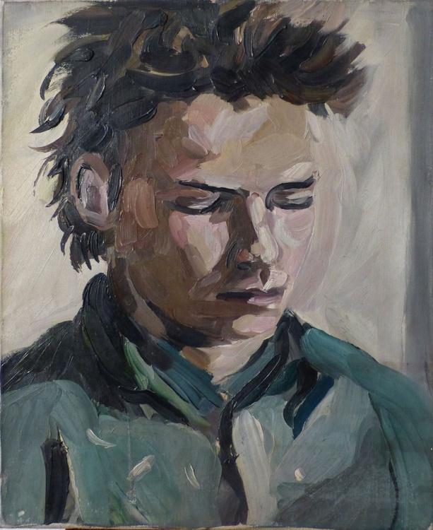 François Negret, French actor, oil on canvas 38x46 cm - Image 0