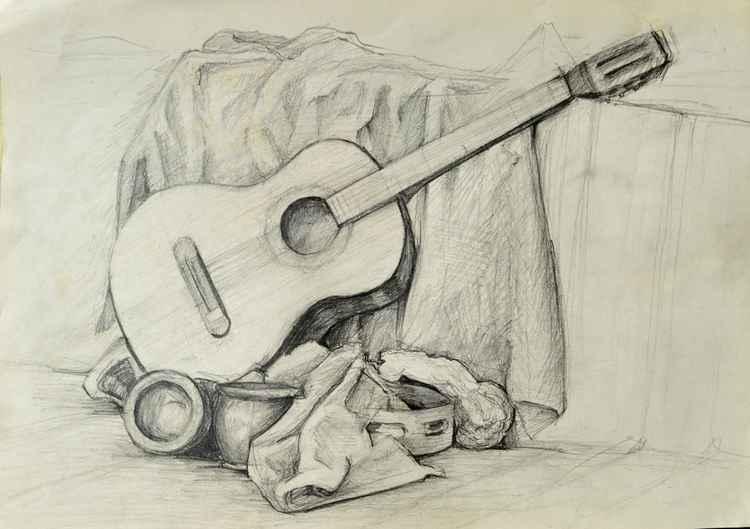 Old guitar -