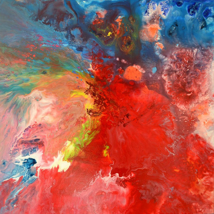 When She Dance - Abstract Painting - Ready to Hang, Hotel and Restaurant Wall Decoration - Image 0