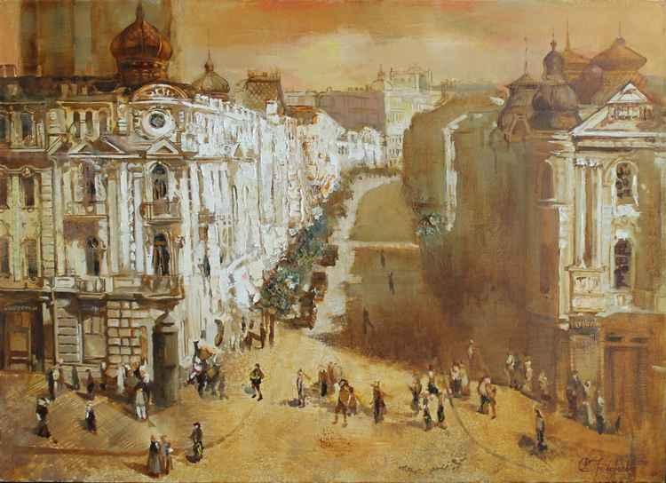 Kiev. Nikolaevskya street. -