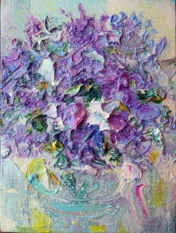 lilac, mini art, 20x15 cm - Image 0