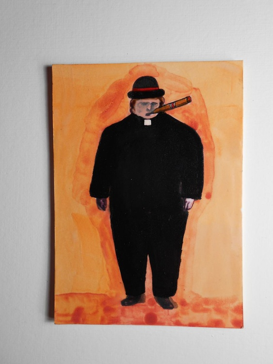 Father Stogie is Here Original Painting - Image 0