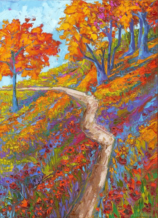 Staying in the Path - Landscape Painting - Image 0