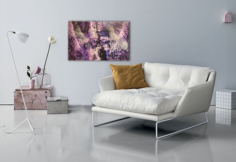 ABSTRACT V  - Hand Embellished - Gallery Wrapped Canvas - Ready To Hang!!! ONLY £49 - Image 0