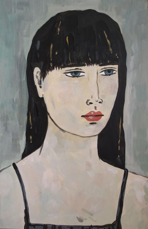 Portrait with Black Hair - Image 0