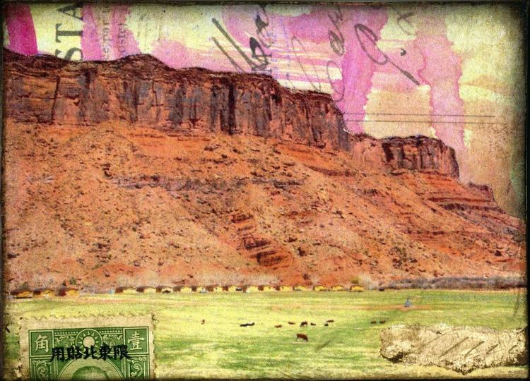 Moab, Mixed Media Miniature Art - Image 0