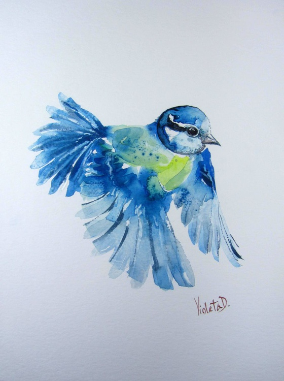 The Blue Tit in Flight - Image 0