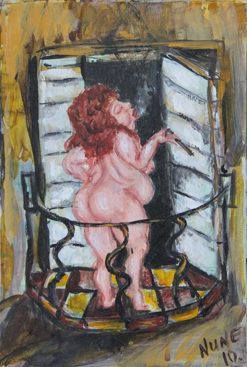 Smoking nude - Image 0