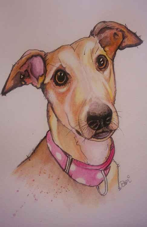 Greyhound: Dog Doodle Portrait