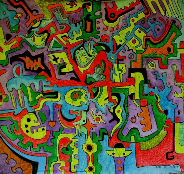 Azteca Mexican abstraction