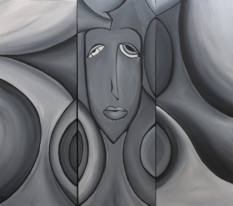 """Grey Mood "" Tryptich - Image 0"
