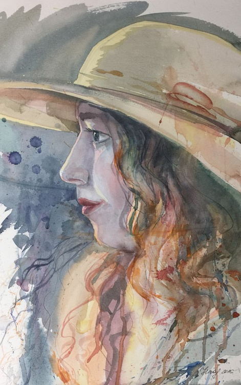 Lady in a hat - Image 0