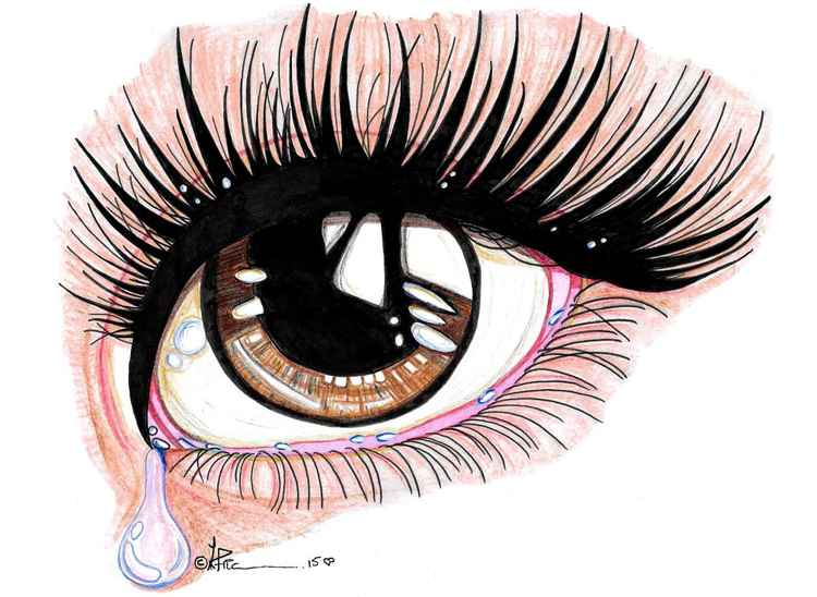 brown eye crying study -