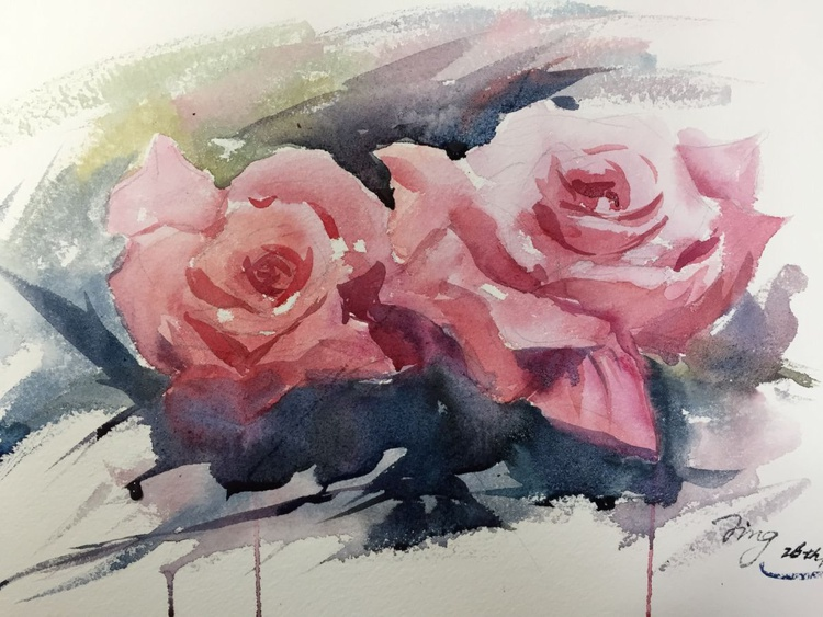 Twin roses - Image 0